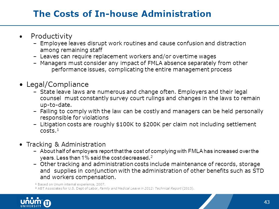 The Costs of In-house Administration