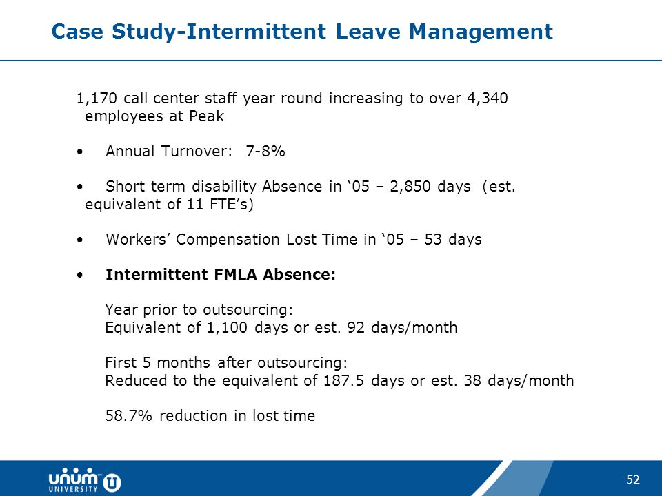 Case Study-Intermittent Leave Management