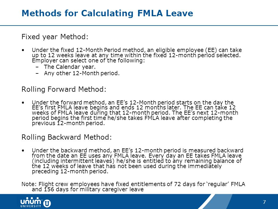 Methods for Calculating FMLA Leave