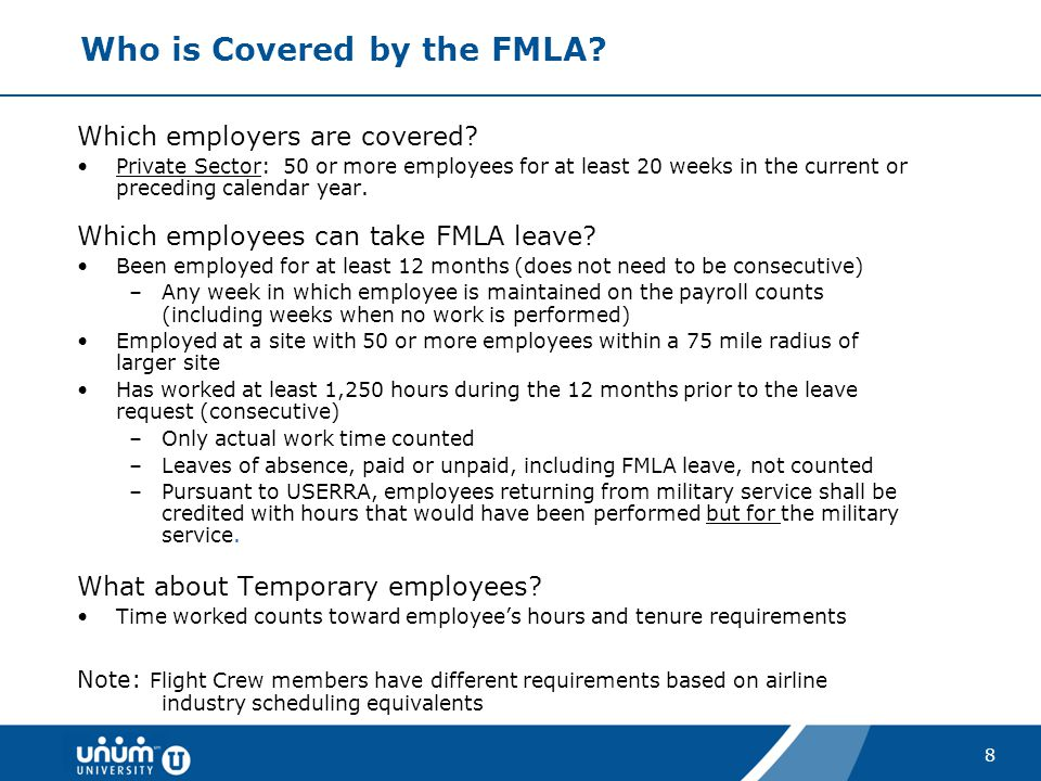 Who is Covered by the FMLA