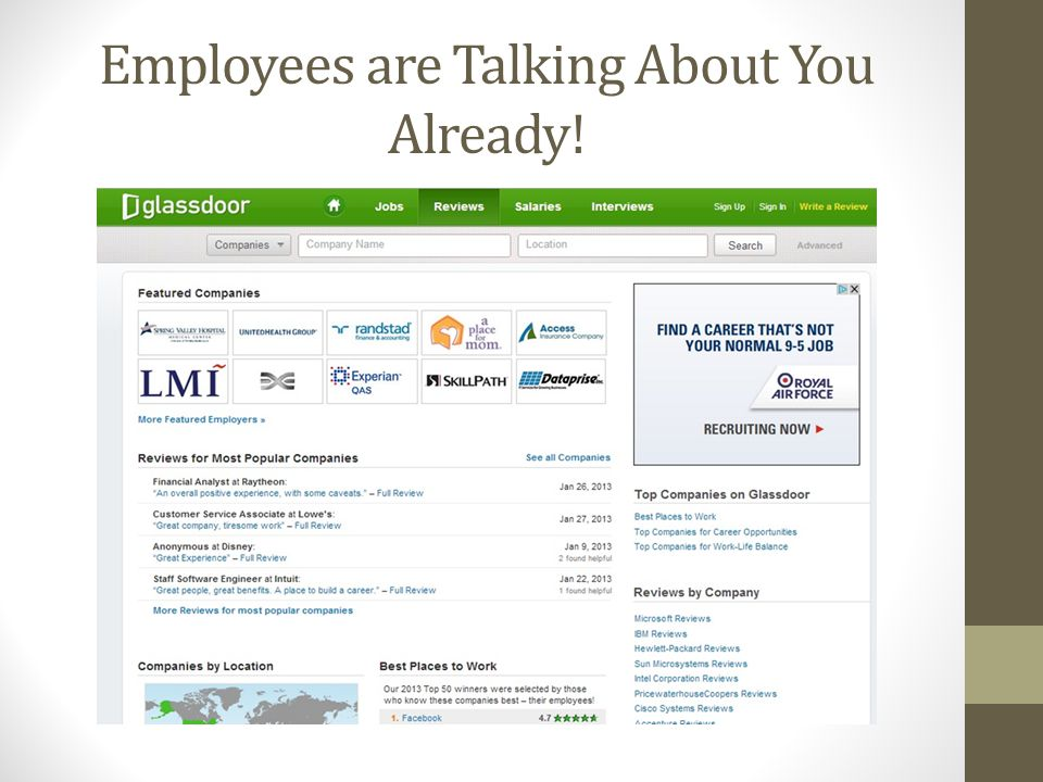 Employees are Talking About You Already!