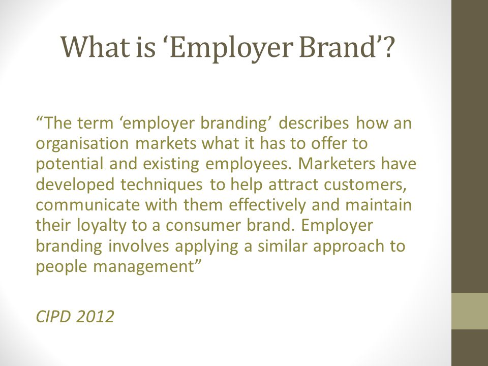 What is 'Employer Brand'