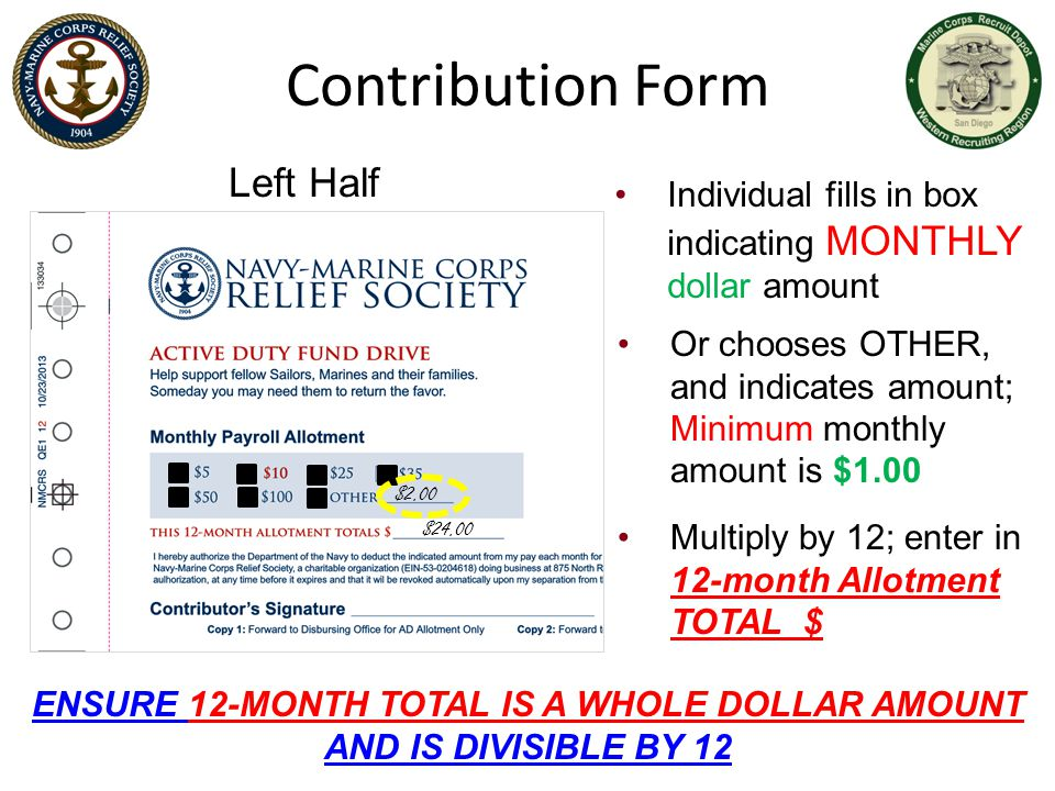 ENSURE 12-MONTH TOTAL IS A WHOLE DOLLAR AMOUNT AND IS DIVISIBLE BY 12