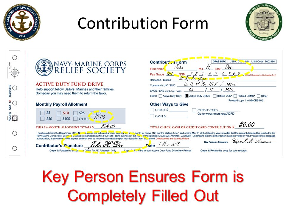 Key Person Ensures Form is Completely Filled Out
