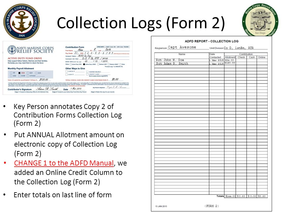 Collection Logs (Form 2)