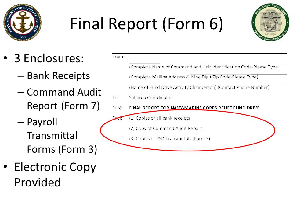 Final Report (Form 6) 3 Enclosures: Electronic Copy Provided