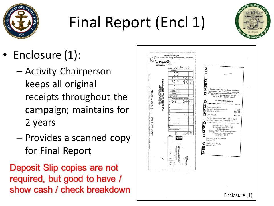 Final Report (Encl 1) Enclosure (1):