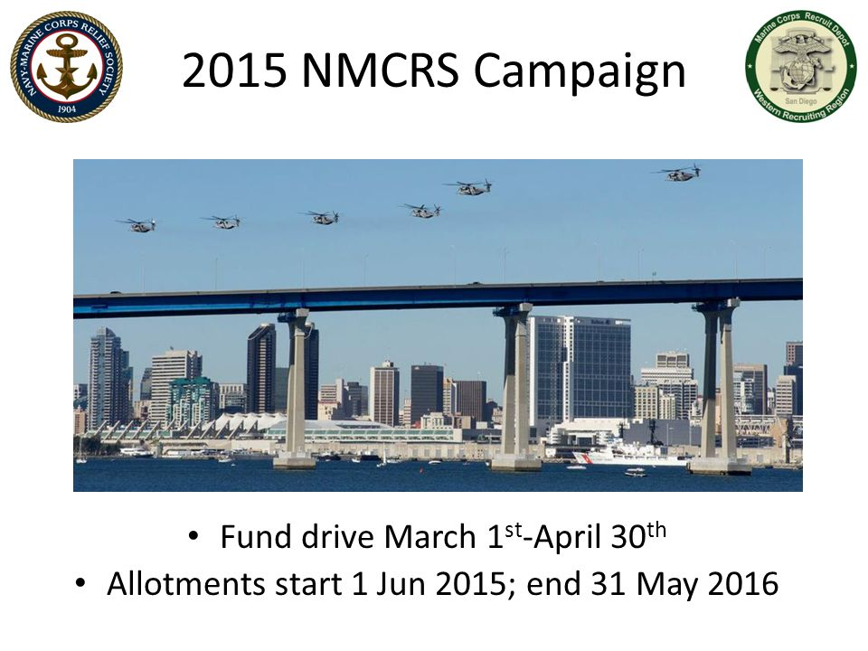 2015 NMCRS Campaign Fund drive March 1st-April 30th