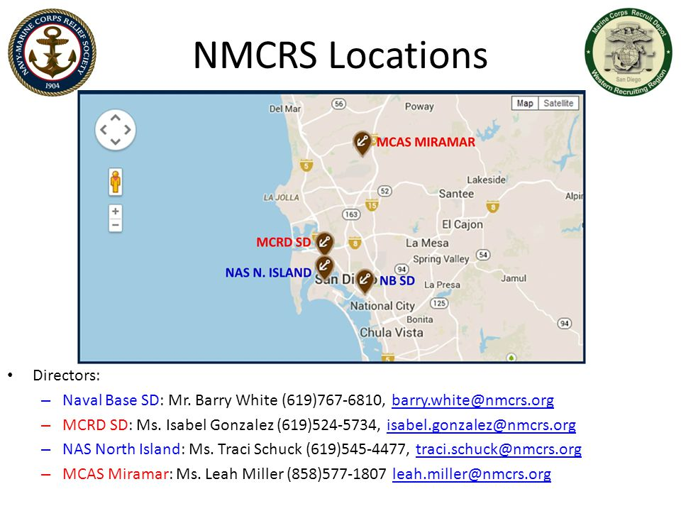 NMCRS Locations Directors: