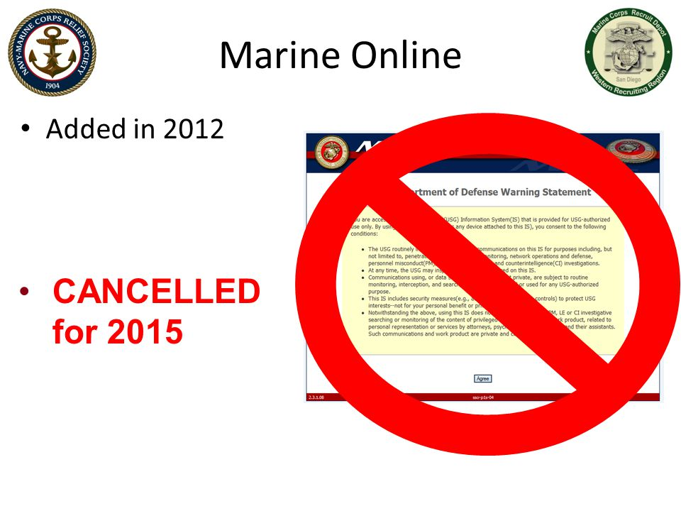 Marine Online CANCELLED for 2015 Added in 2012 ADFD AND MARINE ONLINE