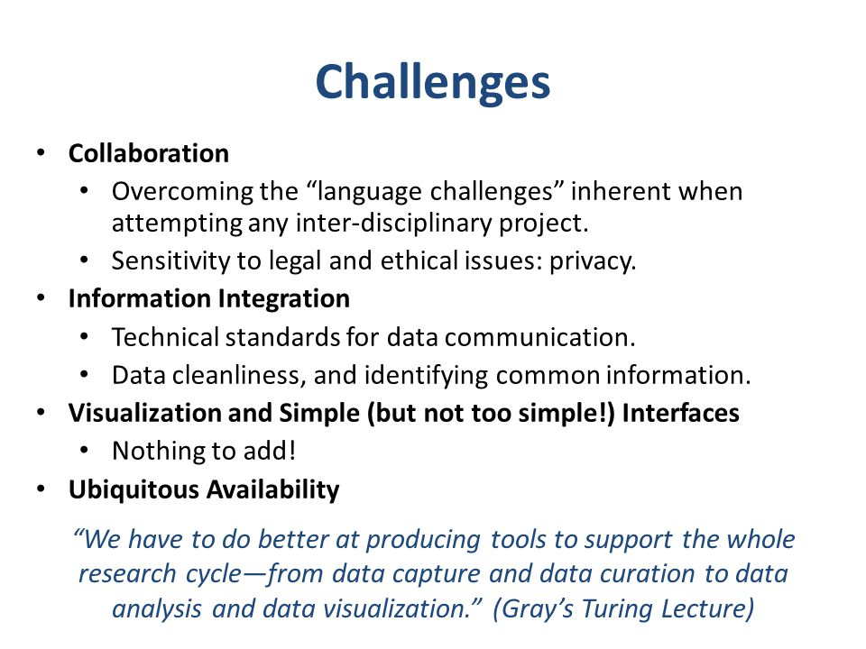 Challenges Collaboration