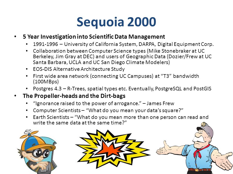 Sequoia 2000 5 Year Investigation into Scientific Data Management