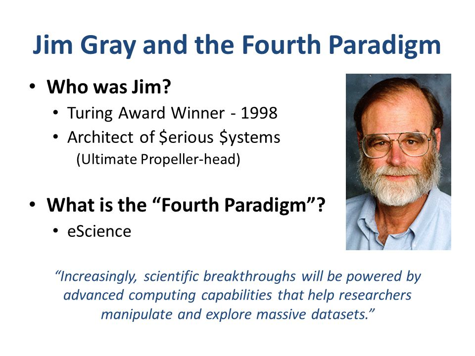 Jim Gray and the Fourth Paradigm