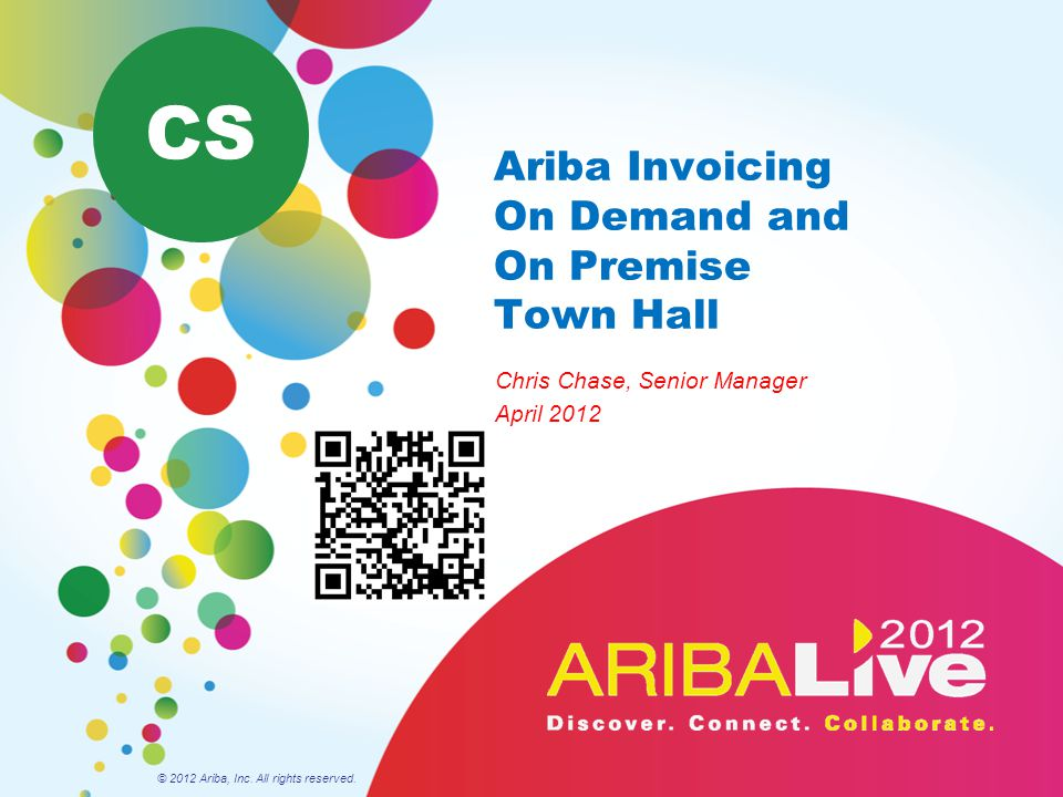 Ariba Invoicing On Demand and On Premise Town Hall