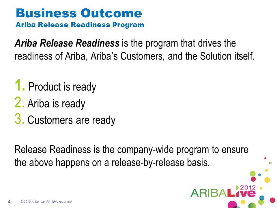 Business Outcome Ariba Release Readiness Program
