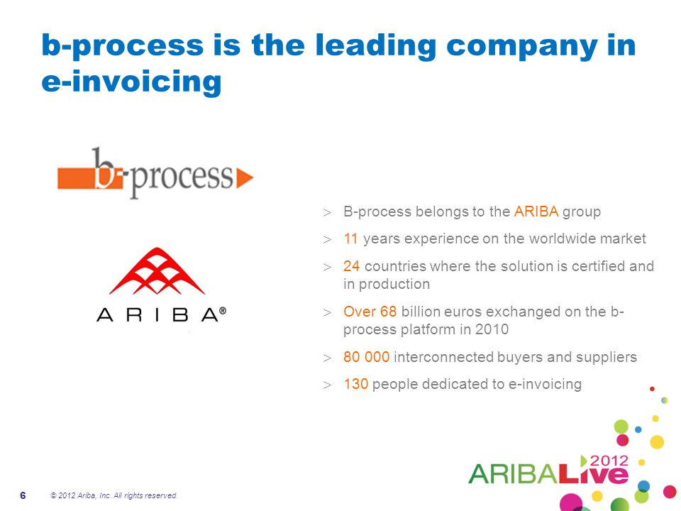 b-process is the leading company in e-invoicing