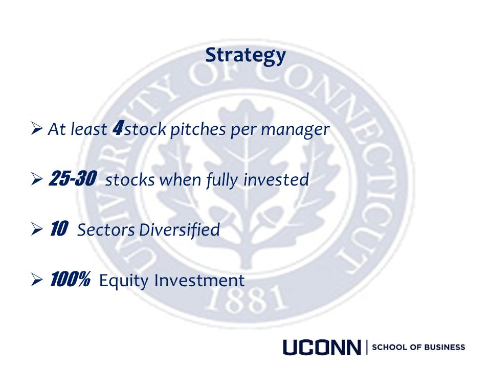 Strategy At least 4 stock pitches per manager