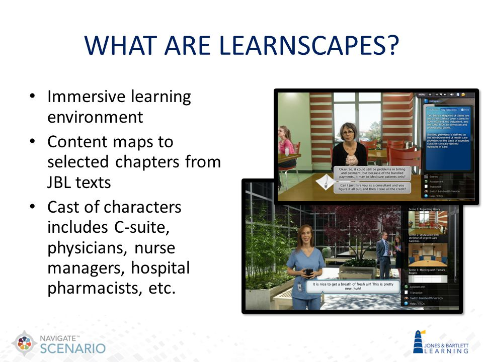 WHAT ARE LEARNSCAPES Immersive learning environment
