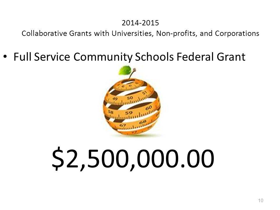 $2,500,000.00 Full Service Community Schools Federal Grant