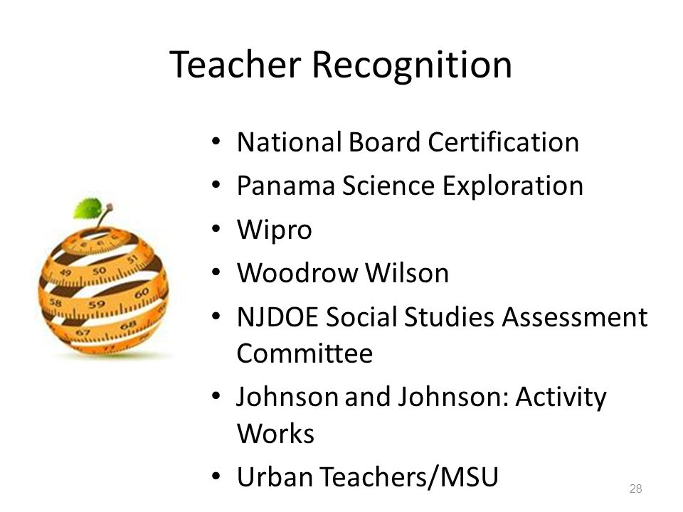 Teacher Recognition National Board Certification