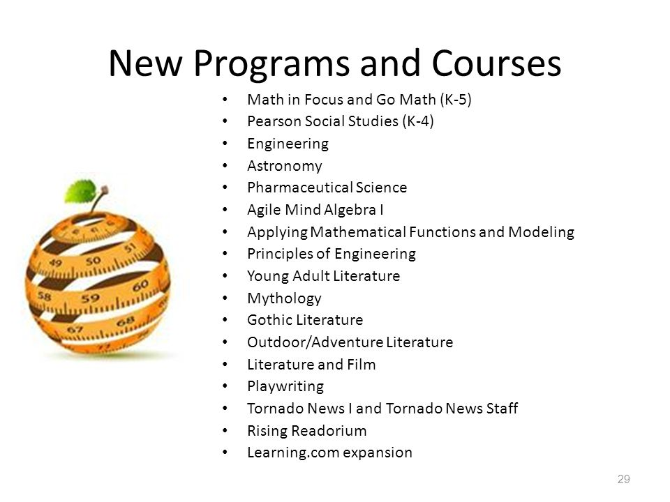 New Programs and Courses