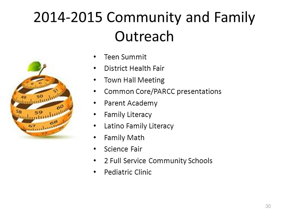 2014-2015 Community and Family Outreach