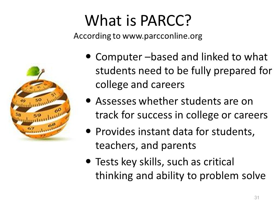 What is PARCC According to www.parcconline.org
