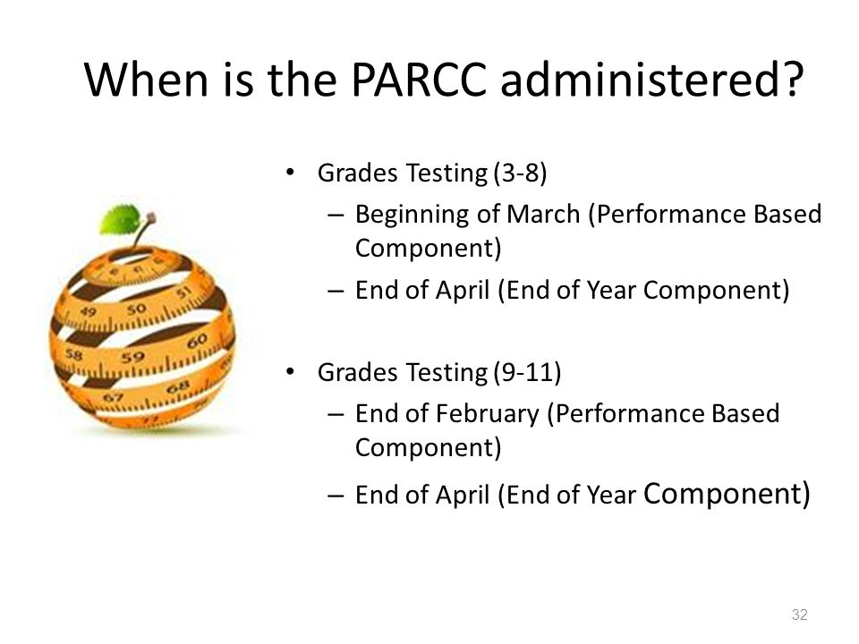 When is the PARCC administered