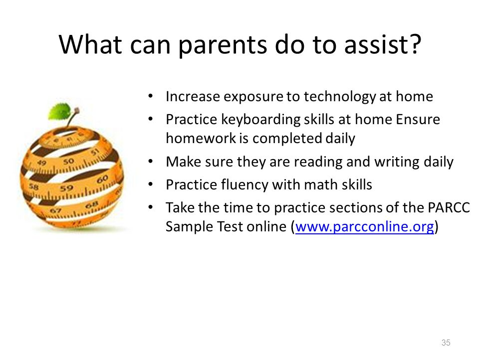 What can parents do to assist