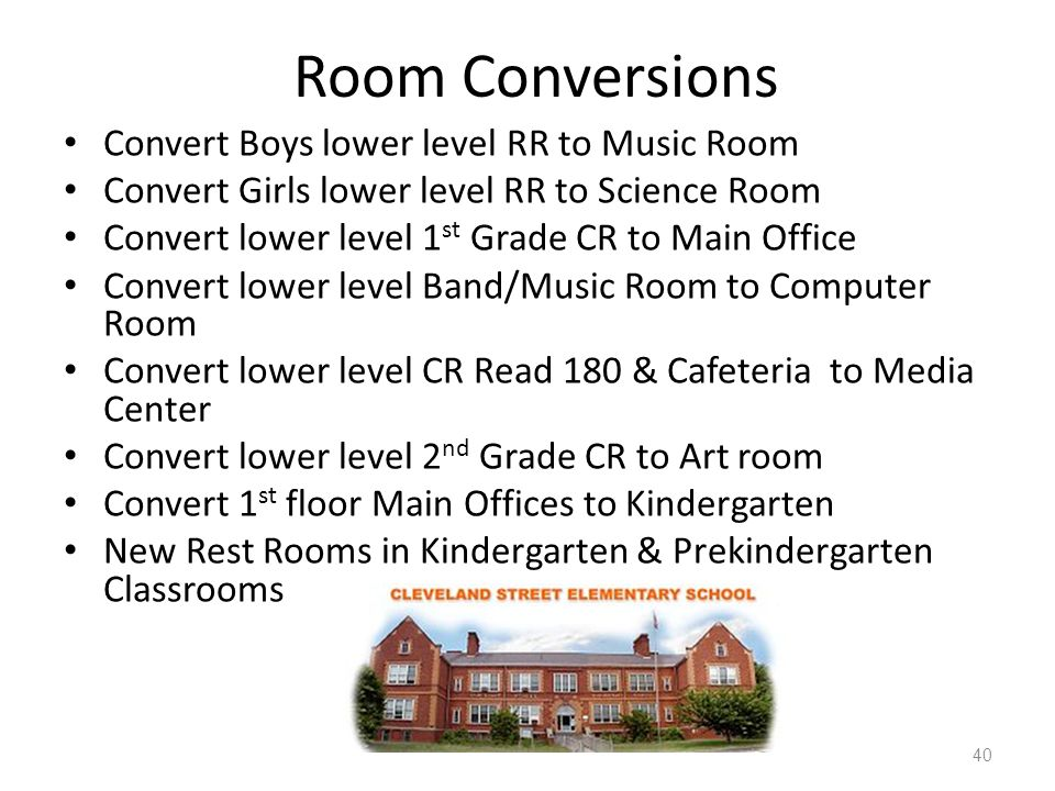 Room Conversions Convert Boys lower level RR to Music Room