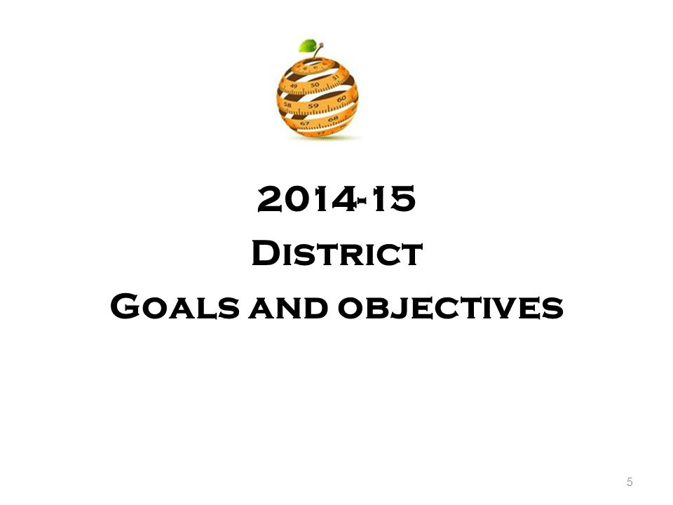 2014-15 District Goals and objectives