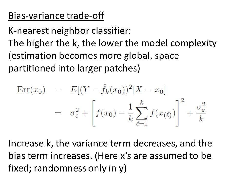 Bias-variance trade-off