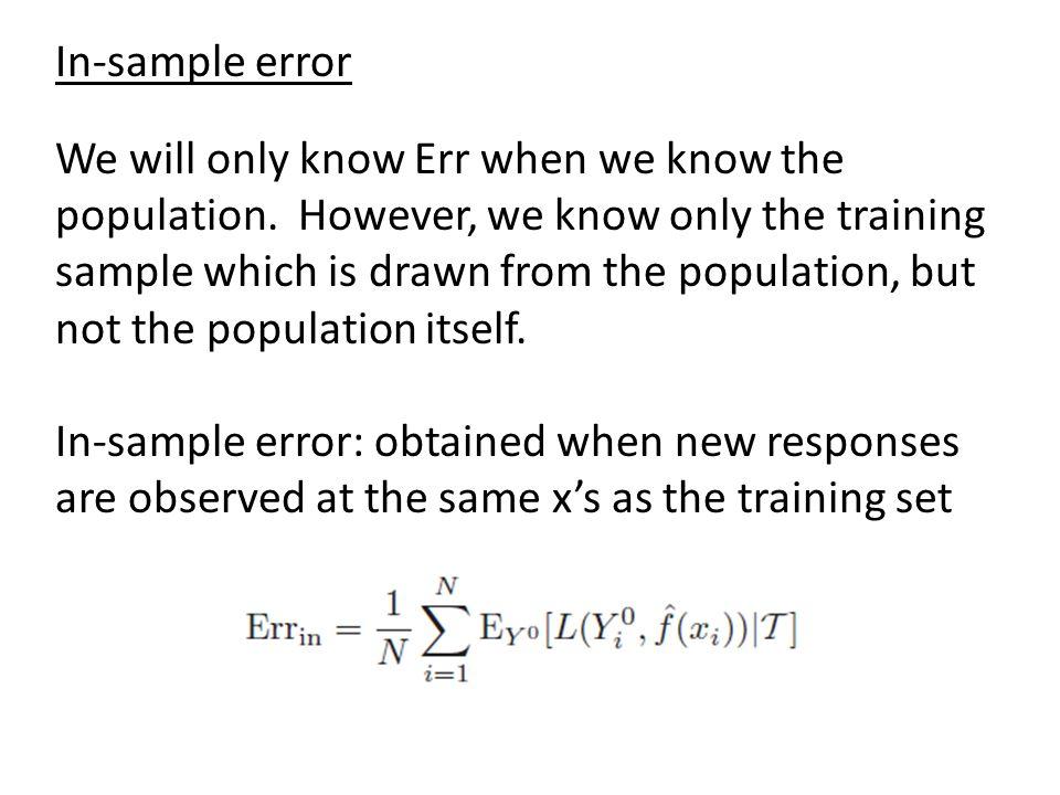 In-sample error