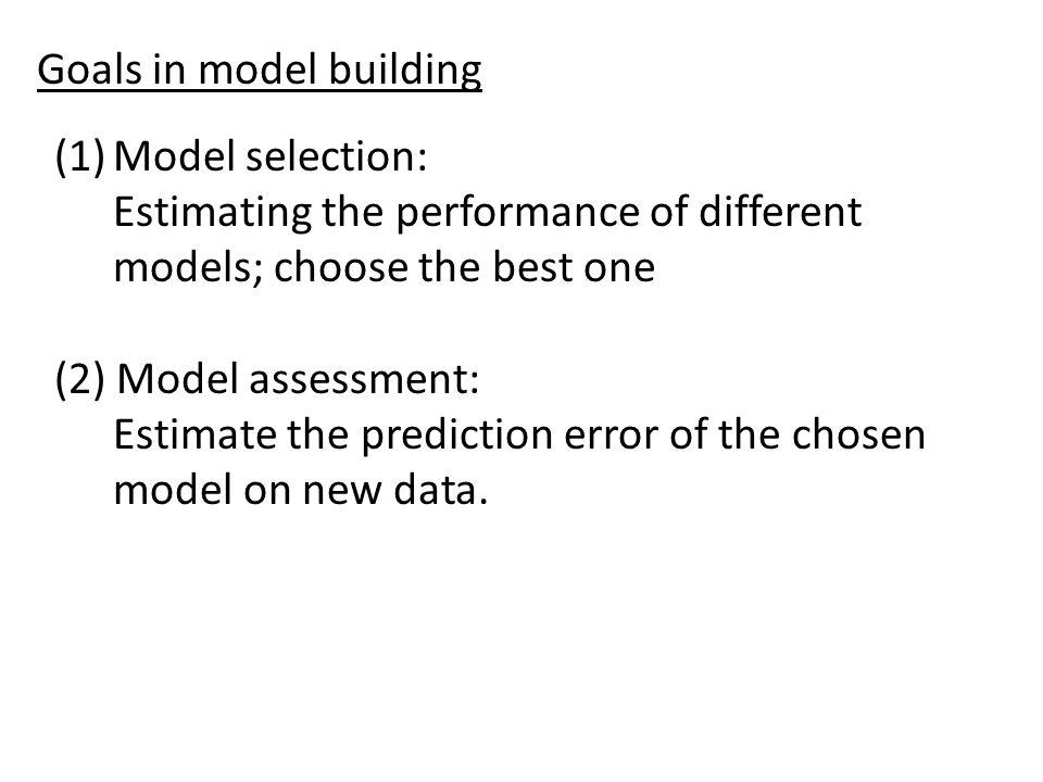Goals in model building