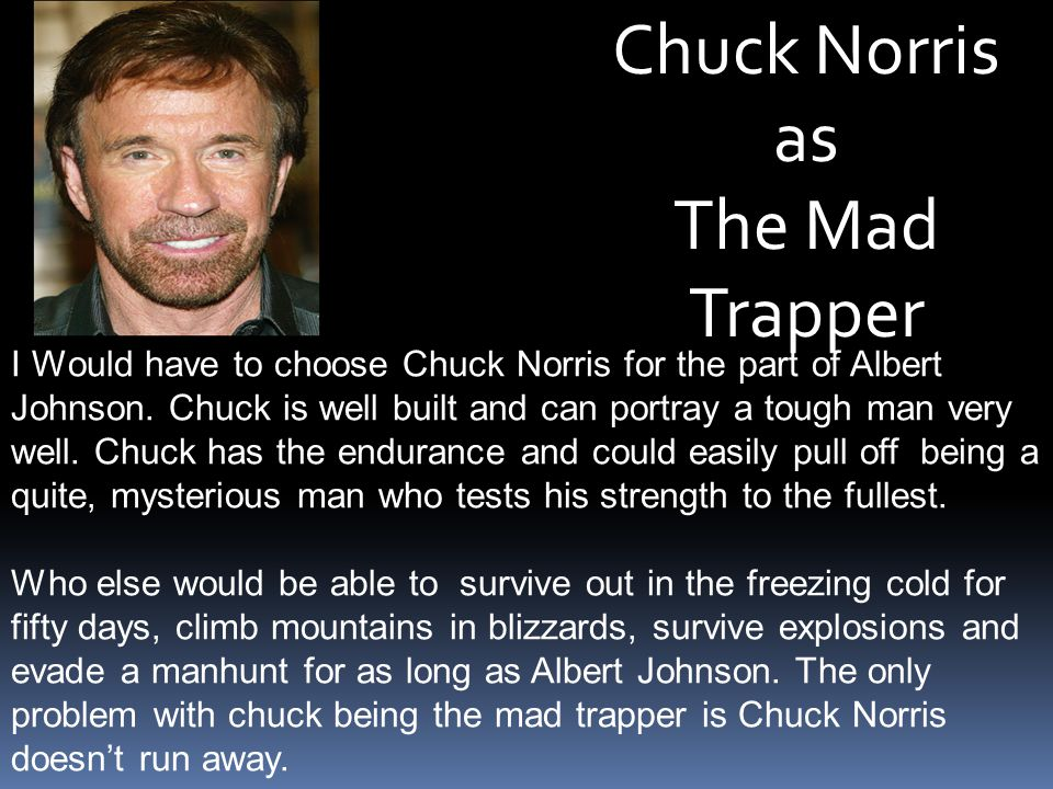 Chuck Norris as The Mad Trapper