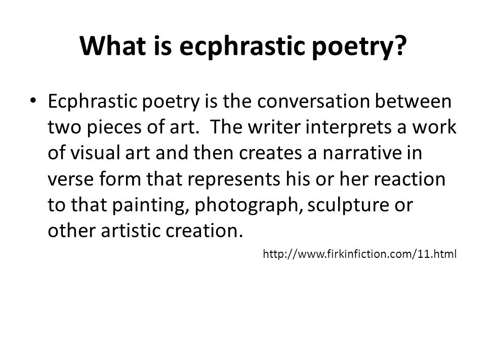 What is ecphrastic poetry