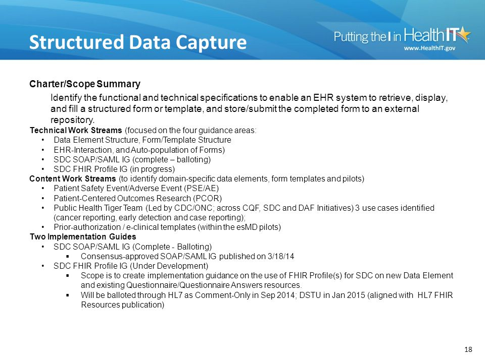 Structured Data Capture
