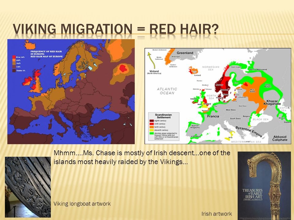 Viking migration = Red hair