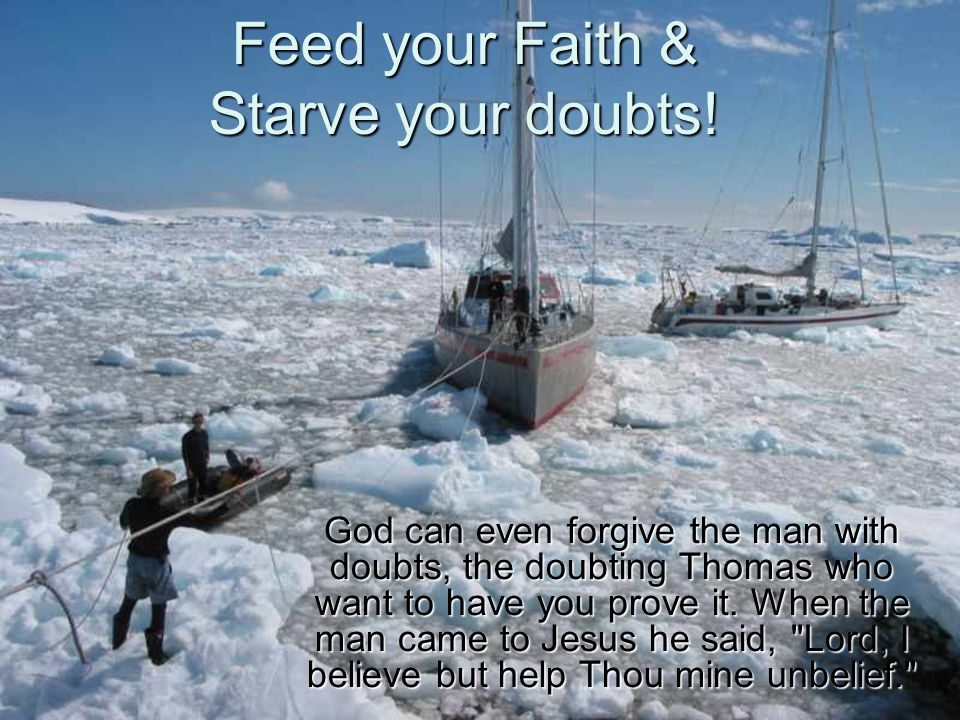 Feed your Faith & Starve your doubts!