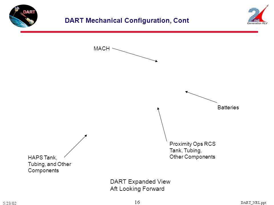 DART Mechanical Configuration, Cont