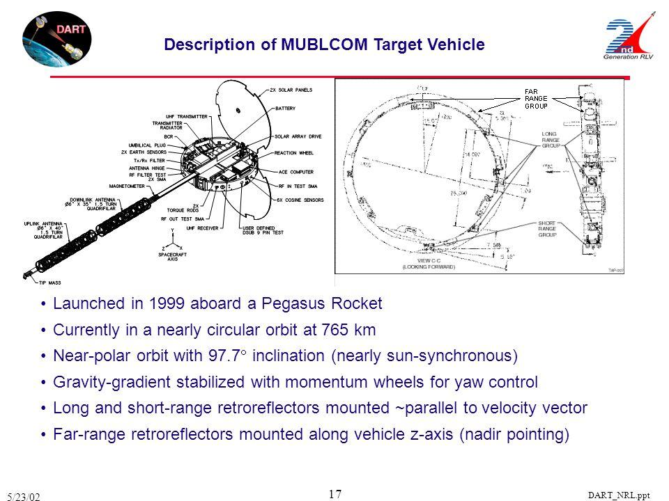 Description of MUBLCOM Target Vehicle