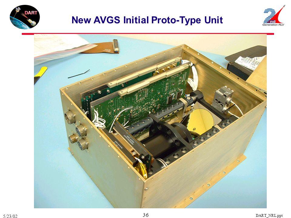 New AVGS Initial Proto-Type Unit
