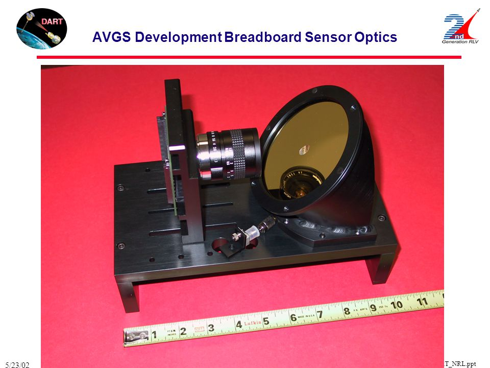 AVGS Development Breadboard Sensor Optics