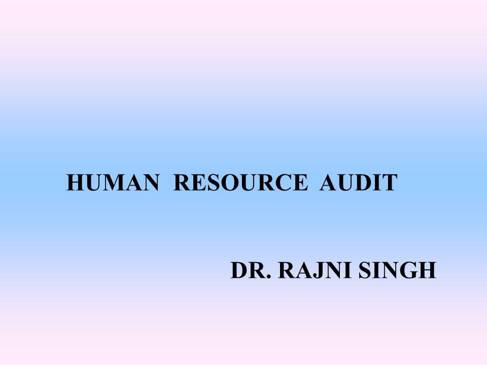 HUMAN RESOURCE AUDIT DR. RAJNI SINGH