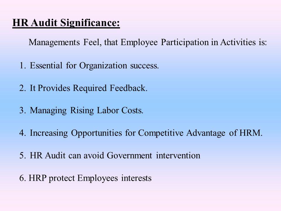 HR Audit Significance: