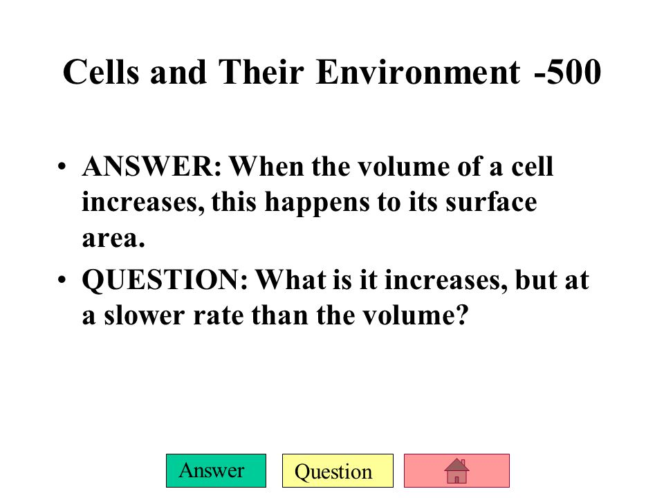 Cells and Their Environment -500