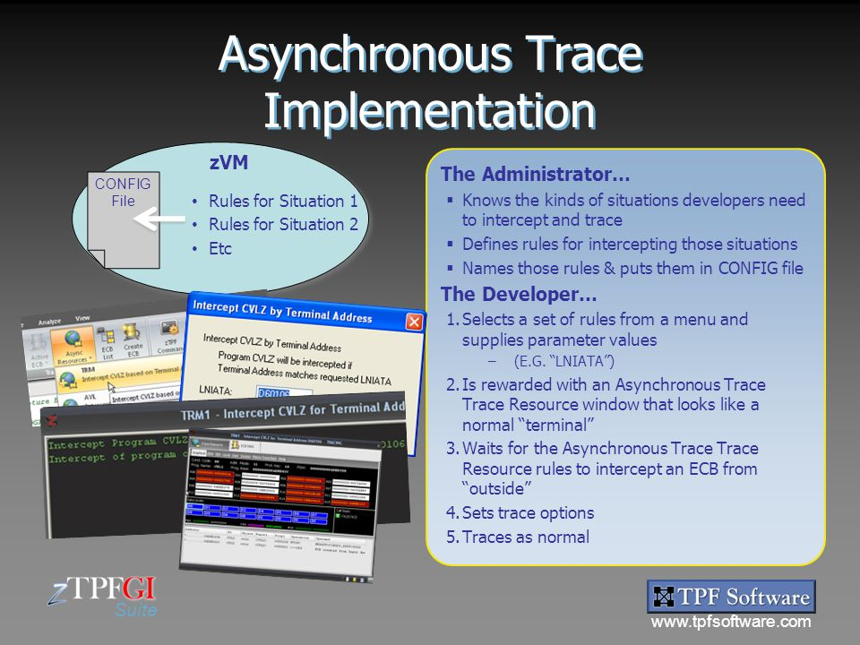 Asynchronous Trace Implementation