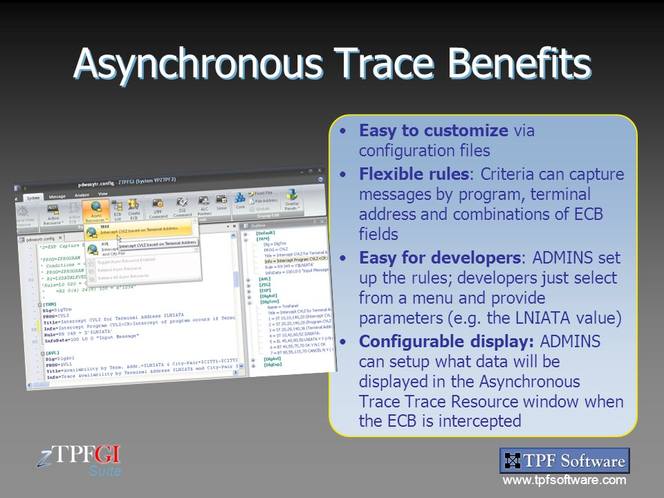 Asynchronous Trace Benefits