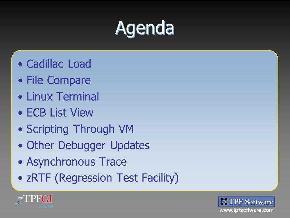 Agenda Cadillac Load File Compare Linux Terminal ECB List View