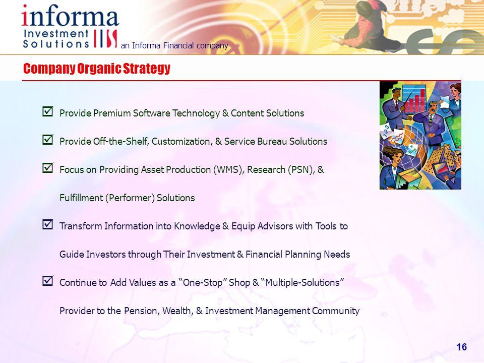 Company Organic Strategy